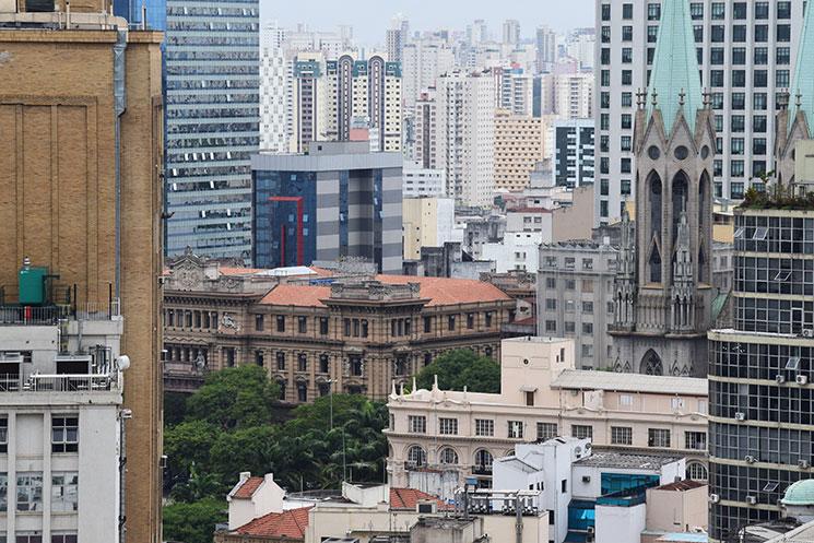 Vista de São Paulo do alto do Martinelli