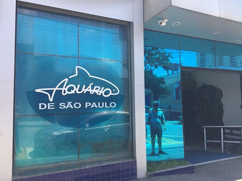 Fachada do Aquário de São Paulo