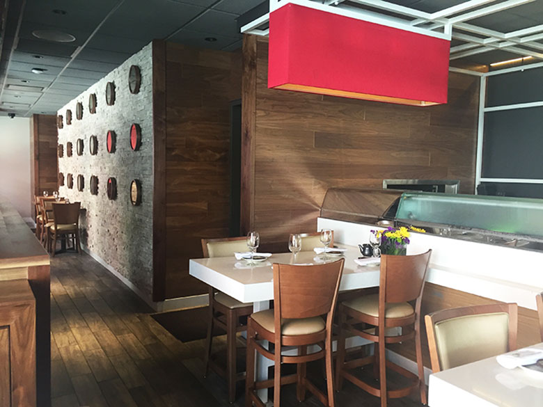 Ambiente do Haru Sushi no Chelsea