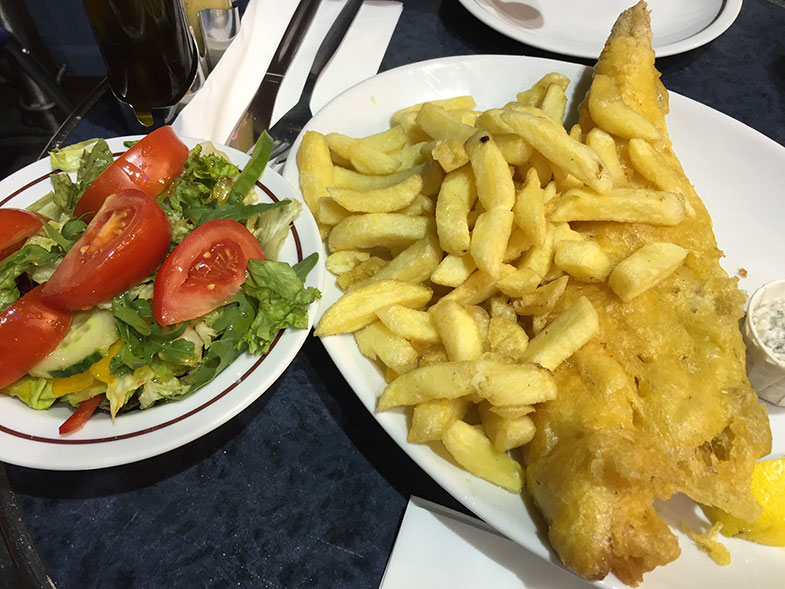 Fishs and chips em Londres