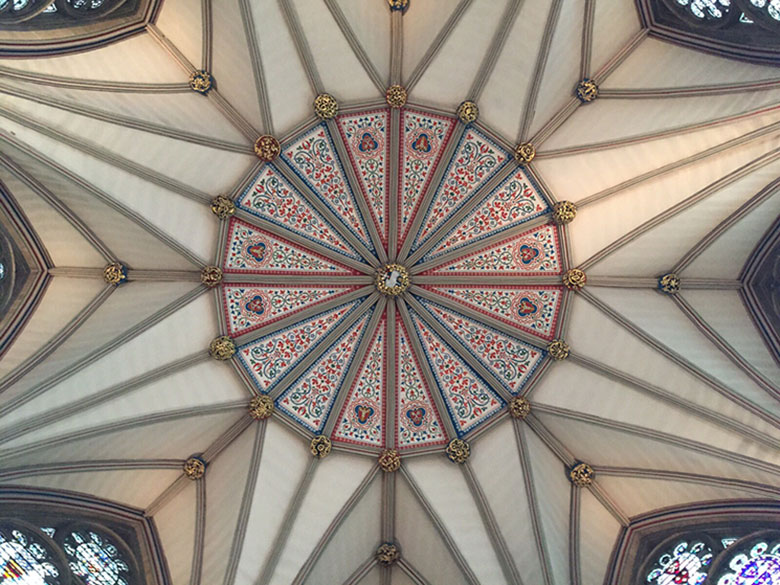 Teto da Cada do Cabido da Catedral de York