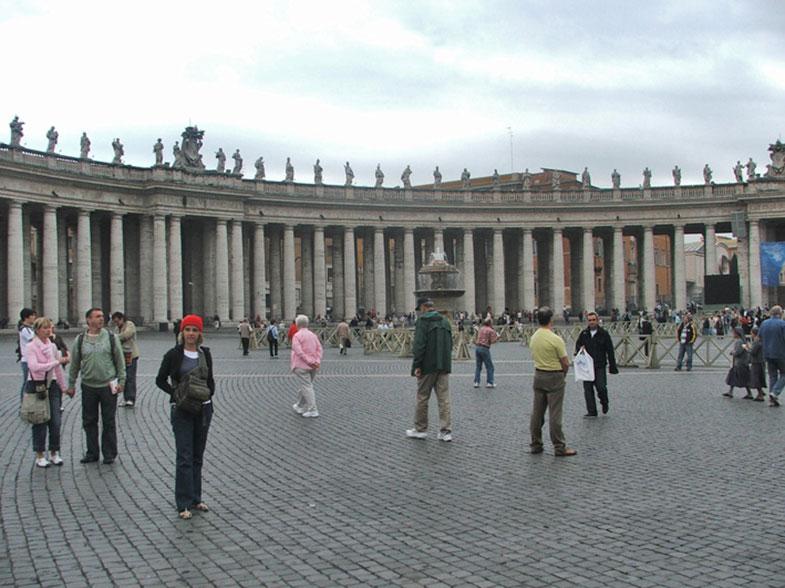 Praça de São Pedro em Roma