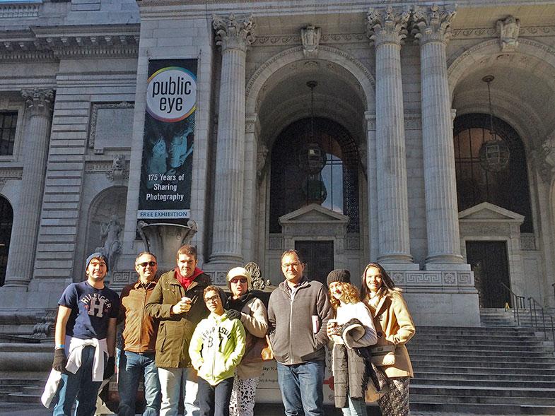 Fachada da Biblioteca Pública de New York