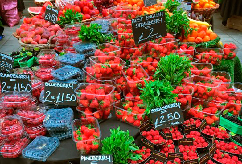 Frutas no Borough Market