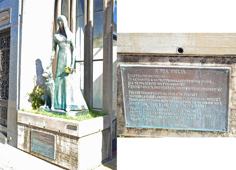 Túmulo de Liliana Crociati no cemitério da Recoleta