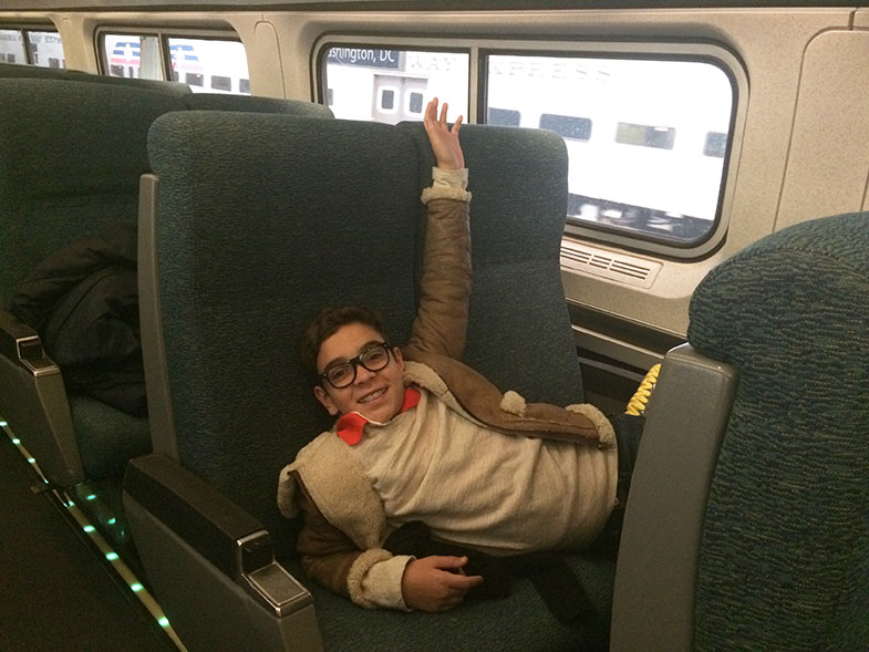 Trem Amtrak de Washington DC para New York