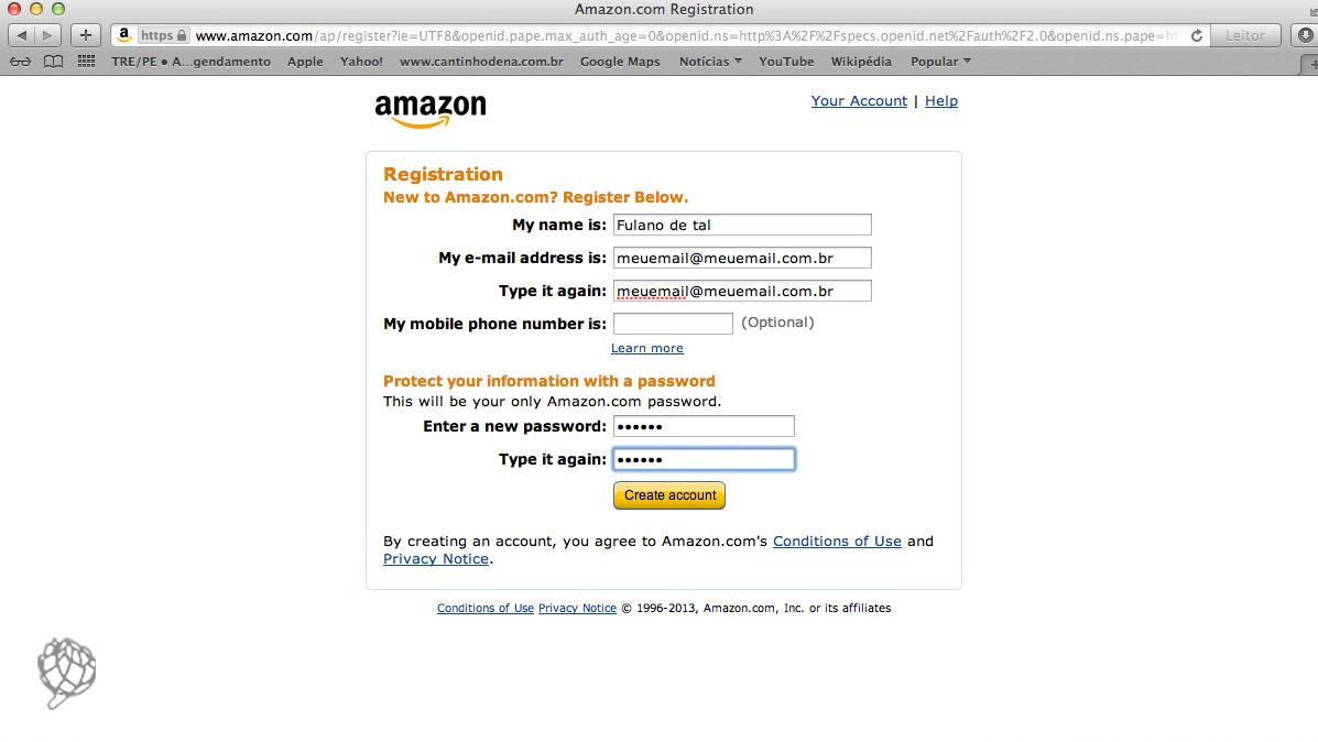 45d54761b Como comprar pela Amazon - Cantinho de Ná