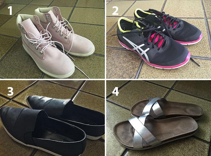 2f5852dc16b64 Compras nos Estados Unidos  Sapatos de vários tipos. - Cantinho de Ná