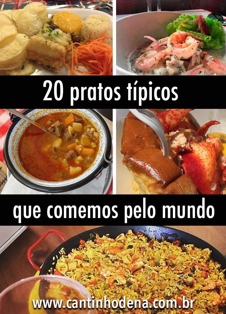 Lista com 20 pratos típicos que comemos em viagens